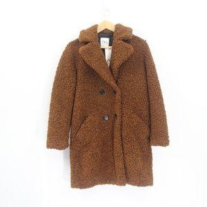 Zara Teddy Bear Coat New Faux Shearling XS Women